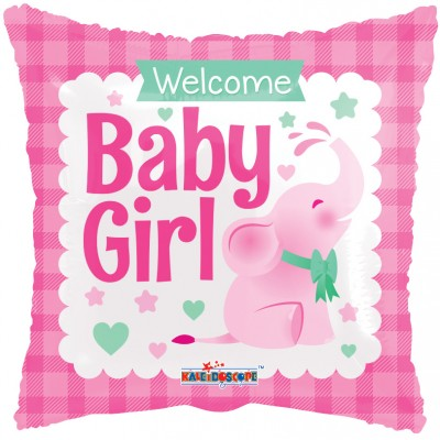 Helium Ballon Welcome Baby Girl 46 cm
