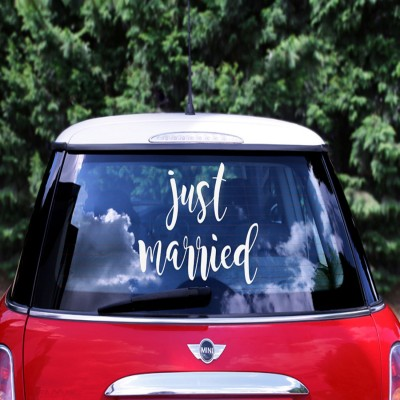 Just Married autosticker 33 x 45 cm
