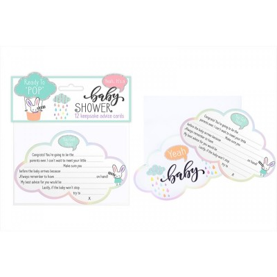 Babyshower keepsake advice cards 12 stuks