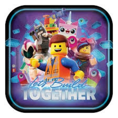 Lego movie 2 dinerborden 8 stuks