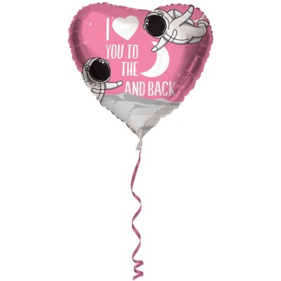 Folie ballon i love you to the moon and back 45 cm