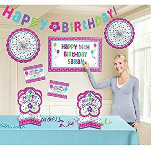 Pink and teal decoratieset