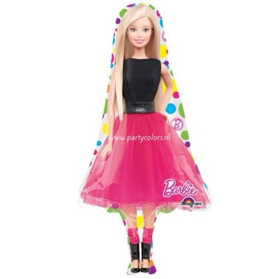 Barbie sparkle folie ballon super shape 53 x  106 cm