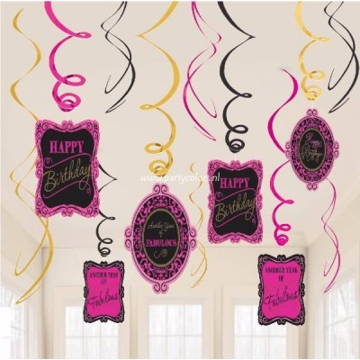 Absolutely fabulous hangdecoratie 12 stuks