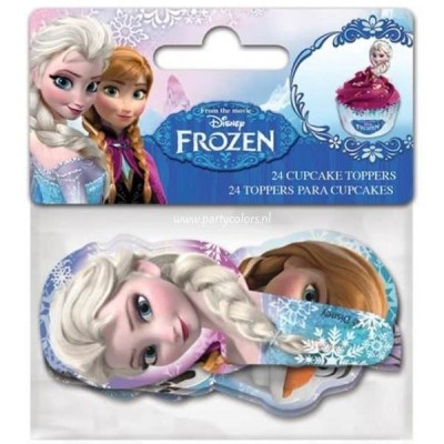 Frozen cupcake toppers 24-delig