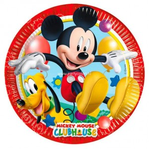 Mickey mouse playful dinerborden 8 stuks