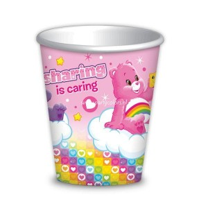 Care bears bekers 8 stuks