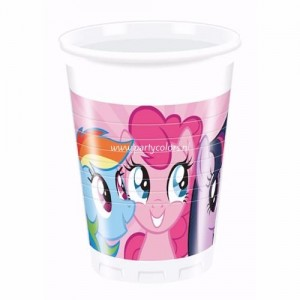 My little pony rainbow bekers 8 stuks