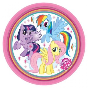 My little pony rainbow dessertborden 8 stuks