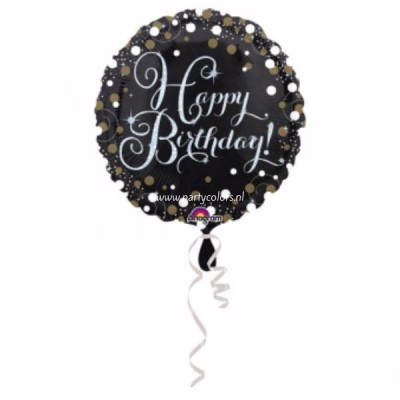 Sparkling folie ballon goud happy birthday