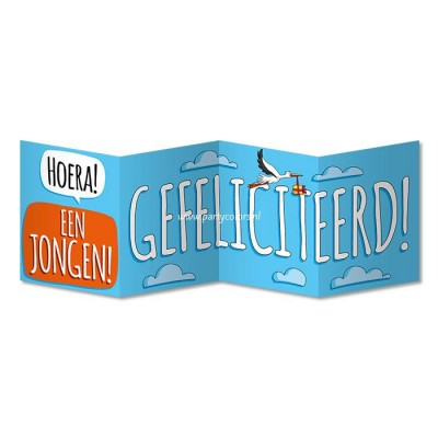 Surprise card geboorte jongen