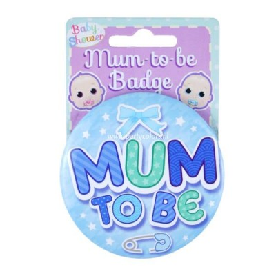 Baby boy badge mum to be