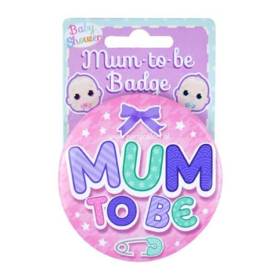 Baby girl badge mum to be