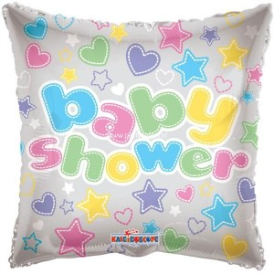 Folie ballon baby shower gekleurd