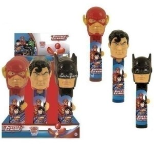 Bip justice league lolly pop ups
