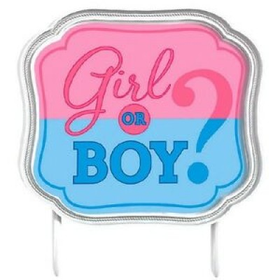 Girl or Boy taarttopper