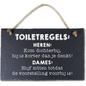 Leisteen spreuken toiletregels
