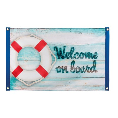 Vlag welcome on board 90 x 60 cm