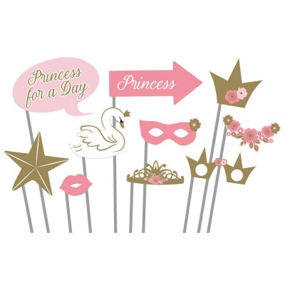 Princess for a day photobooth props 10 stuks